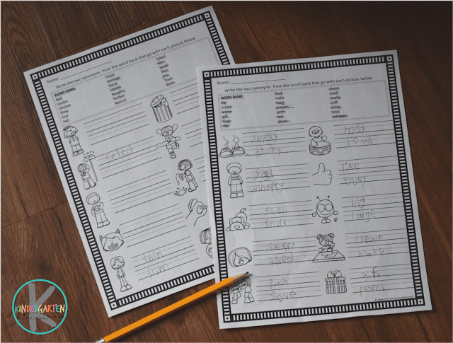 FREE Synonym And Antonym Worksheets