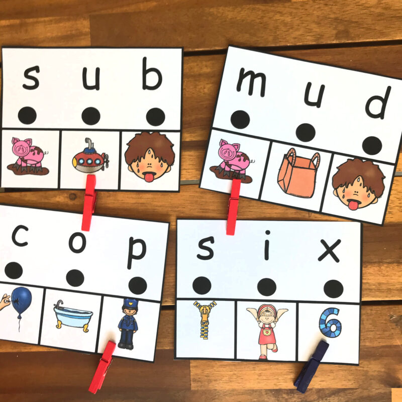 Kindergarten CVC Words
