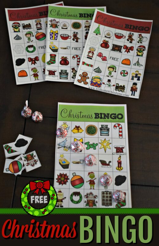 Kids of all ages will love this free pritnable Christmas Bingo game. Simply print as many as you need of this christmas games for toddler, preschool, kindergarten, first grade and more. Great for family reunions! #christmasprintables #christmasgames #christmas
