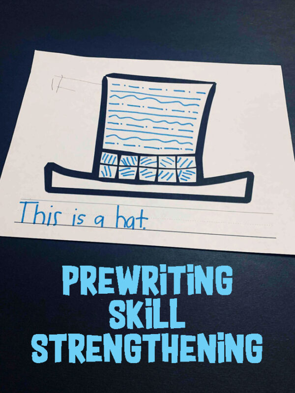 Help young learners work on Pre-Writing skills with this simple, no prep winter activity perfect for prek and kindergarten age kids. #prewriting #preschool #prek