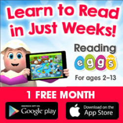 Reading Eggs 1 free month of award winning software to teach your child to read in just weeks