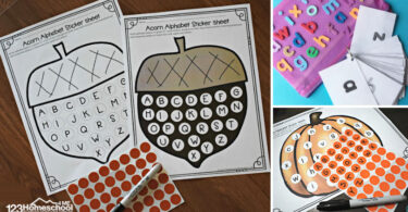 sticker worksheets for kids