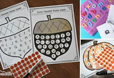 sticker worksheets for kids