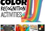 Whether you are working on color recognition, color mixing, learning color names, or just like bright, cheery, colorful activities - you will love this HUGE list of over 50 colour recognition activities for toddler, preschool, pre k, kindergarten, and first grade students. We have color sorting, rainbow slime, color science, gross motor color activities and so much more!