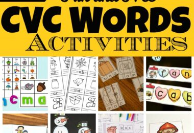 Whether you're teaching preschool, pre k, kindergarten, or first graders, you're bound to be needing tons of ideas for teaching CVC words. We have lots of  creative, and free printable CVC Words Activities to keep kids engaged and having fun learning!  We've included hands-on many cvc word activity ideas, free CVC words worksheets, and CVC words games so as to provide educational activities and learning opportunities all year round!