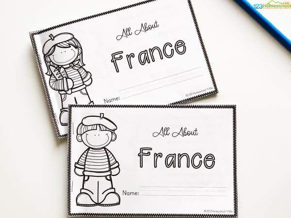 france pritnables for kids