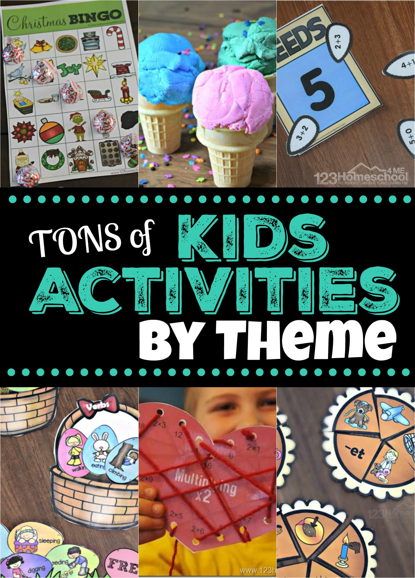 Thosands of fun kids activites, educational ideas, and more by theme so you can easily find what you are looking to do with your toddler, preschool, kindergarten, and elementary age kids