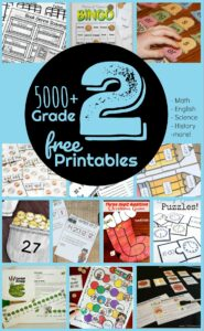3000+ FREE 2nd Grade Worksheets!! Kids will have fun practicing a variety of grade 2 math and science with these second grade worksheets and games to work on phonics, syllables, blends, antonyms, parts of speach, reading, addition, subtraction, counting money, telling time, fractions, and so much more! #2ndgrade #secondgrade #grade2 #free