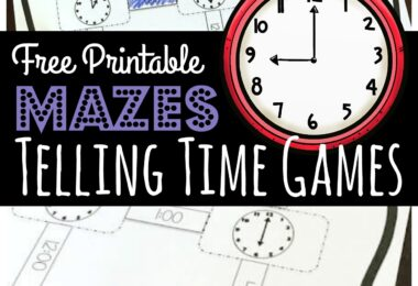 Make practicing telling the time on a clock FUN with these super cute, engaging Telling Time Maze Challenge. This free printable telling time games is perfect for kindergarten, first grade, and 2nd grade students who are learning to tell time to the half hour and on the hour. This free math game turns telling time worksheets into a hands-on educational activity kids will enjoy.