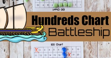 A great way to help your child master numbers 1 to 100 and number patterns is by playing a number math game. This FUN Hundreds Chart Battleship is a free printable, hands on hundreds chart game that uses a  100s chart!  This is such fun counting to 100 game for your pre k, kindergarten, first grade, and 2nd grade student.