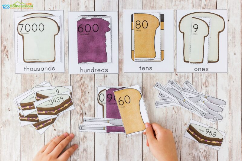 Printable place value games