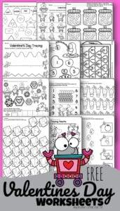 Valentines Day Worksheets for Preschoolers