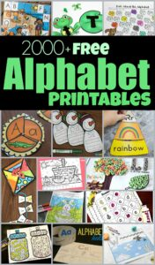 Over 2000+ pages FREE Alphabet Printables -lots of alphabet worksheets, alphabet activities, abc game and more clever ideas for learning your letters, the sounds they make, begining sounds, phonemic awareness, phonics, matching upper and lowercase letters and more for toddler, preschool, kindergarten, and first graders. #alphabet #prek #kindergarten #homeschool