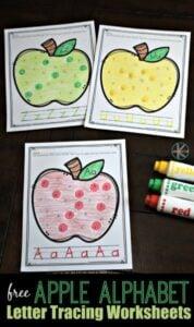 apple alphabet do a dot printables