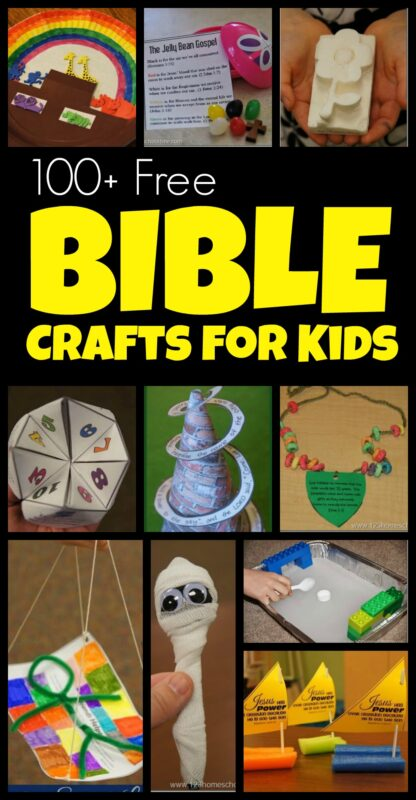100+ BIble Crafts for Kids - tons of cute and clever bible crafts for preschool, prek, kinderagrten, first grade, 2nd grade and 3rd grade students for sunday school. Arranged by old testament, new testament, bible verse and learn the books of the bible ideas too!