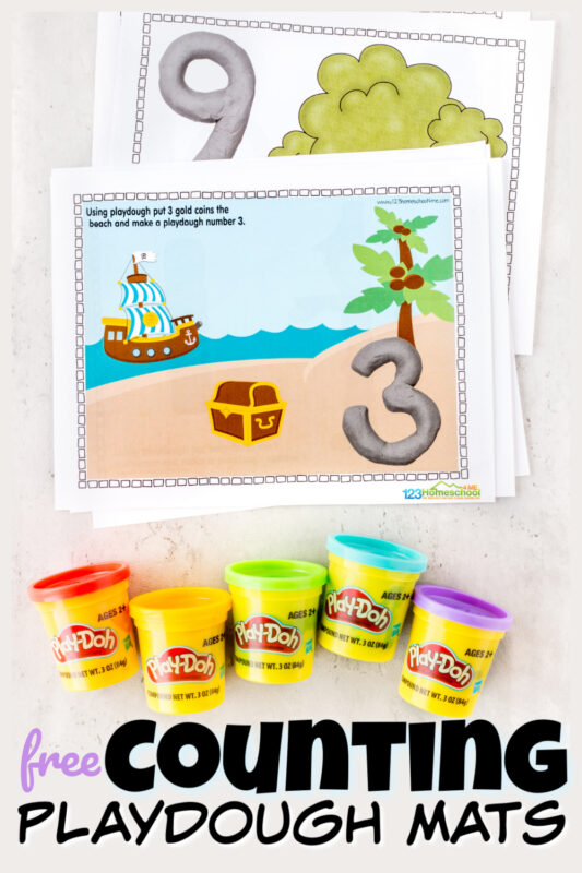Kids will love playing with these fun, interactiveplaydough number mats to practice numbers 1-10. These Number Playdough Mats allow children to use play doh to work on learning their numbers and counting to 10. This playdough numbers is a fun counting activity that also helps strengthing fine motor skills, and playing at the same time. These counting playdough mats are a hands-on, playful number activity for preschoolers and toddler, preschool, pre-k, and kindergartenage kids. Simply download pdf file withfree playdough number matsto learn numbers to ten.