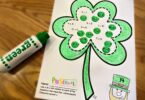 do a dot printables for kids to practice math in March using bingo markers