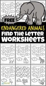endangered animals dot marker printables