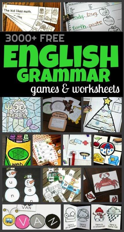 3000+ FREE Language Arts Worksheets & Games