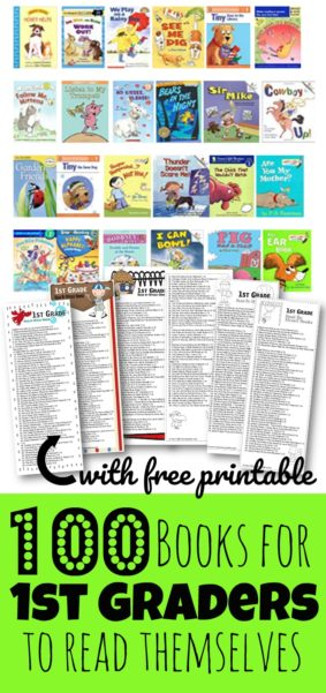 FREE printable first grade book list by book level