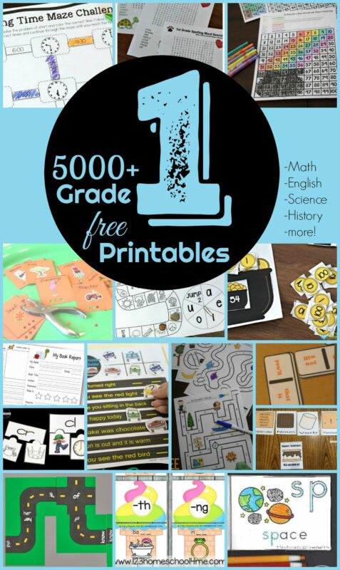 FREE 1st Grade Worksheets - we have over 5000 pages to help parents, teachers, and homeschoolers make learning for for students in grade 1 - from first grade math games to cute 1st grade math worksheets, grade 1 english / phonics / grammar activities to practicing alphabet letters. Lots of engaging sight word activities and cvc words practice and so much more! This is a HUGE resource will all free printable 1st grade activities!