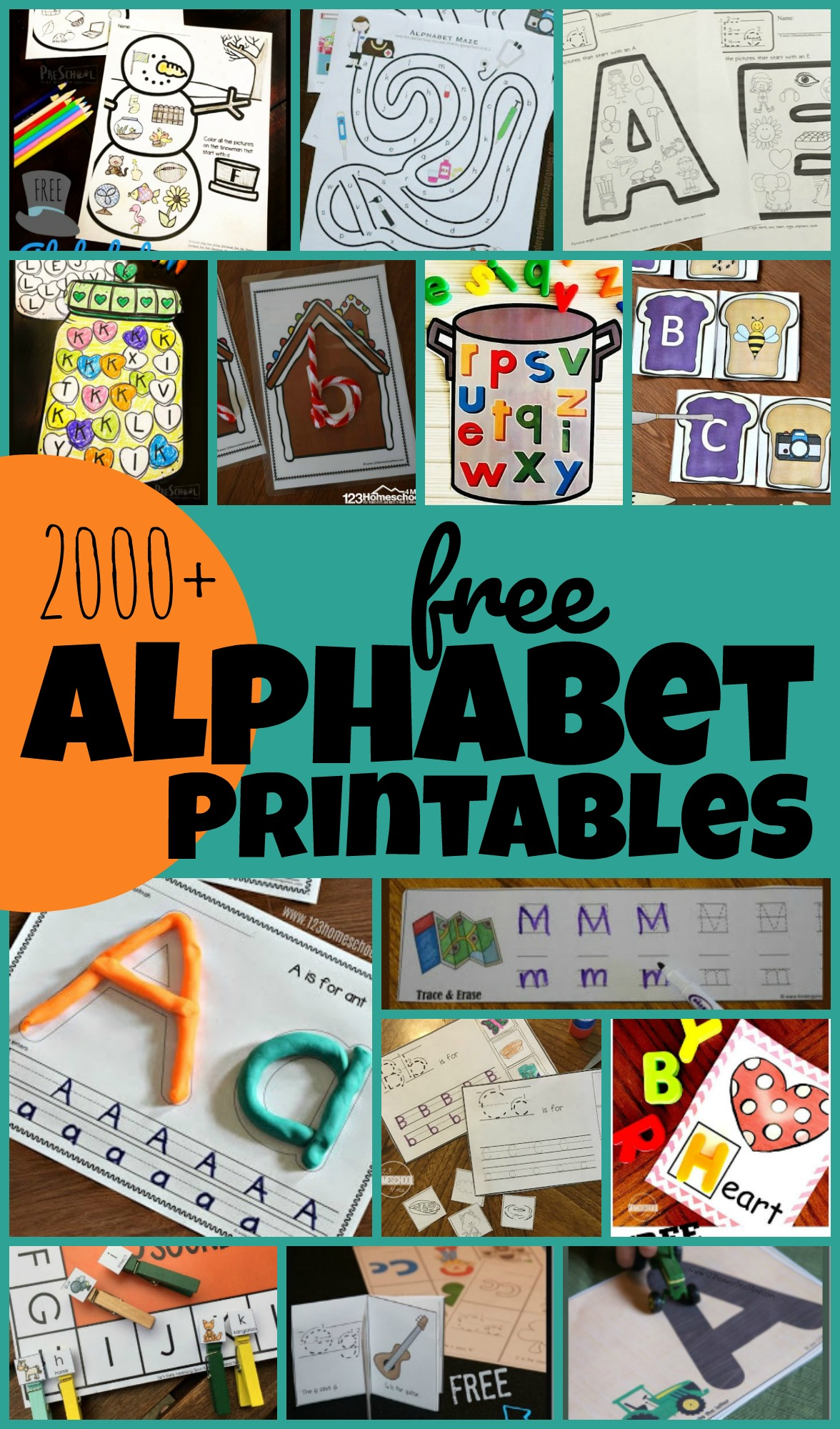 TONS of fun, clever, hands on and FREE Alphabet Printables for toddlers, preschoolers, kindergartners and students in grade 1. Includes upper and lwoercase letter matching, alphabet games, alphabet activities, letter recognition, alphabet activity, beginning sounds, phonemic awareness, coloring pages, letter tracing, alphabet crafts, and more!