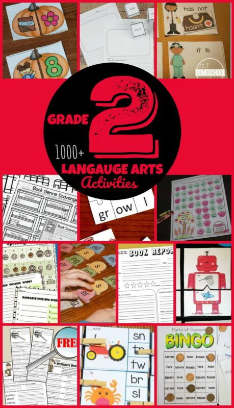 2000+ FREE 2nd Grade English Worksheets and language arts games for 2nd graders to practice writing, phonics, blends, antonyms, parts of speach, rhyming, word endings, using a library, writing book reports, and so much more #2ndgradeenglish #secondgraders #2ndgradeworksheets