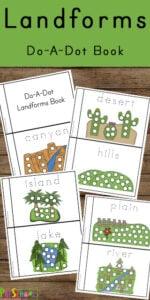 landforms for kid do a dot printables