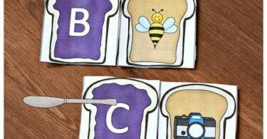 Peanut Butter and Jelly Phonics Alphabet Game