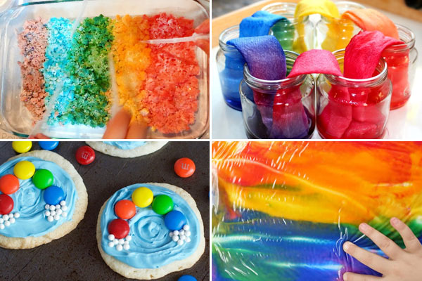lots of beautiful, colorful rainbow activiteis for toddler,s preschoolers, prek, kindergartners, first graders, and 2nd graders