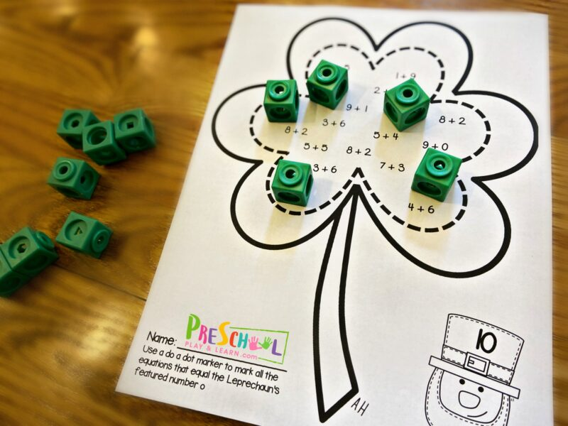 st patricks day math activity for kindergartners and grade 1 math perfec for march math centers