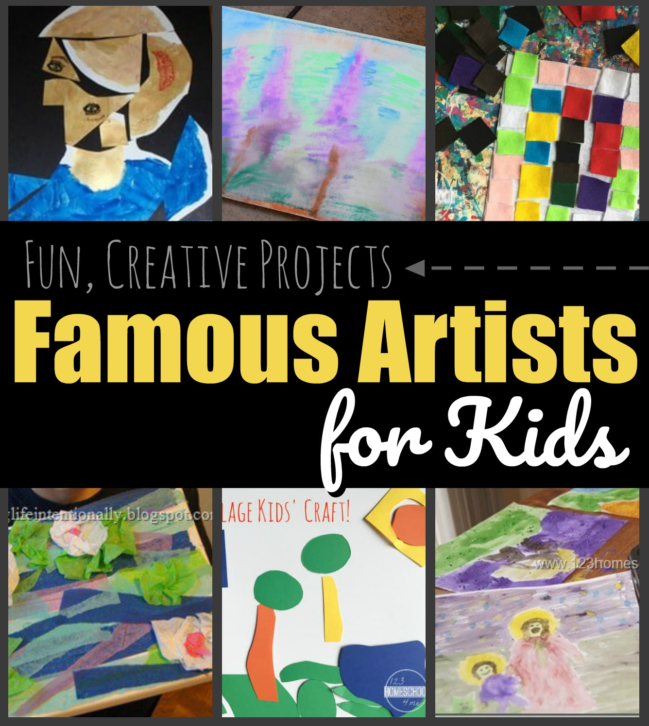 Famous Artists for Kids - SO many super cute and fun projects for kids of all ages