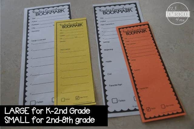 book report bookmark that is handy, no prep reading and comprehension printable is a great tool for students, parents, teachers, and homeschoolers