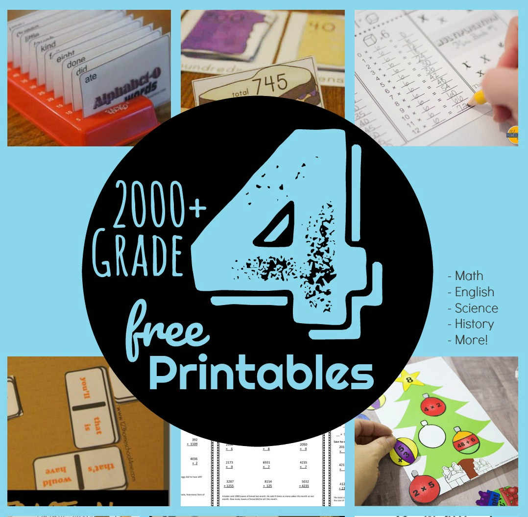 - FREE 4th Grade Worksheets