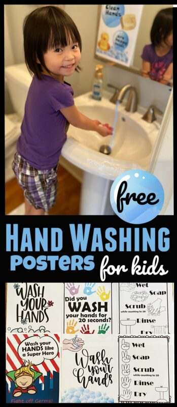 Whether you are helping prevent the spread of the flu or just work on personal hygiene, these free hand washing printables are super cute and handy to use in your homes, at work, or in your classroom. 20+ templates in color or black and white perfect for preschool, pre k, kindergarten, grade 1, and grade 2 students.