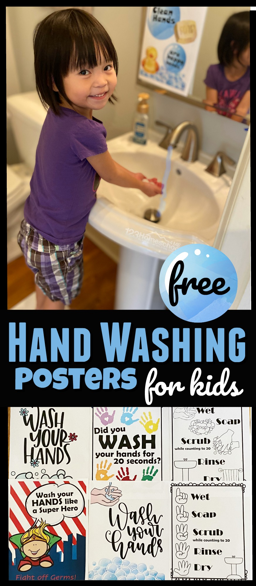 20 Free Hand Washing Printables