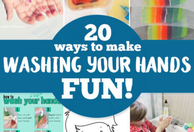 20+ Ways to make Hand Washing FUN! With the spread of the coronavirus we are all becoming more aware of the need to make sure everyone is washing their hands frequently and thoroughly!  Keep your family as safe as possible from the COVID-19 with these 20 clever ideas for making Hand Washing for Kids FUN!