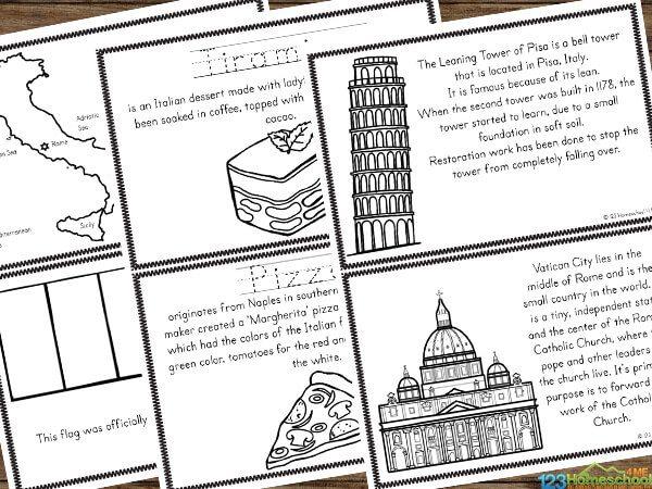 FREE Italy Coloring Pages | 450x600