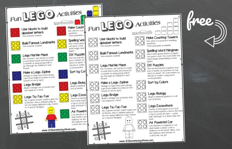 FREE Lego Activities For Kids Printable Poster