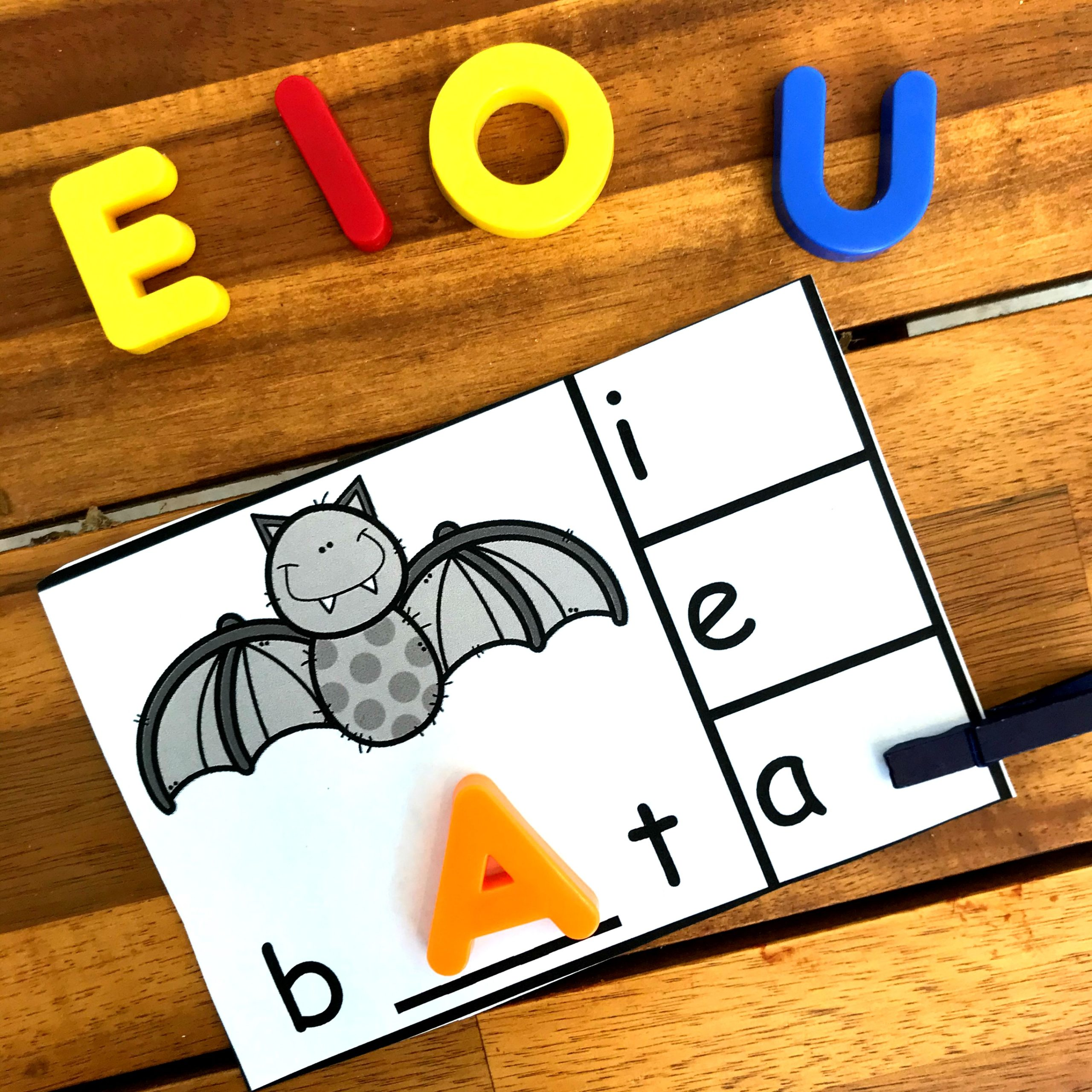 use cvc words to work on Kindergarten Phonics