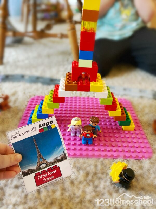 free printable STEAM Challenge for kids of all ages using lego or duplo bricks
