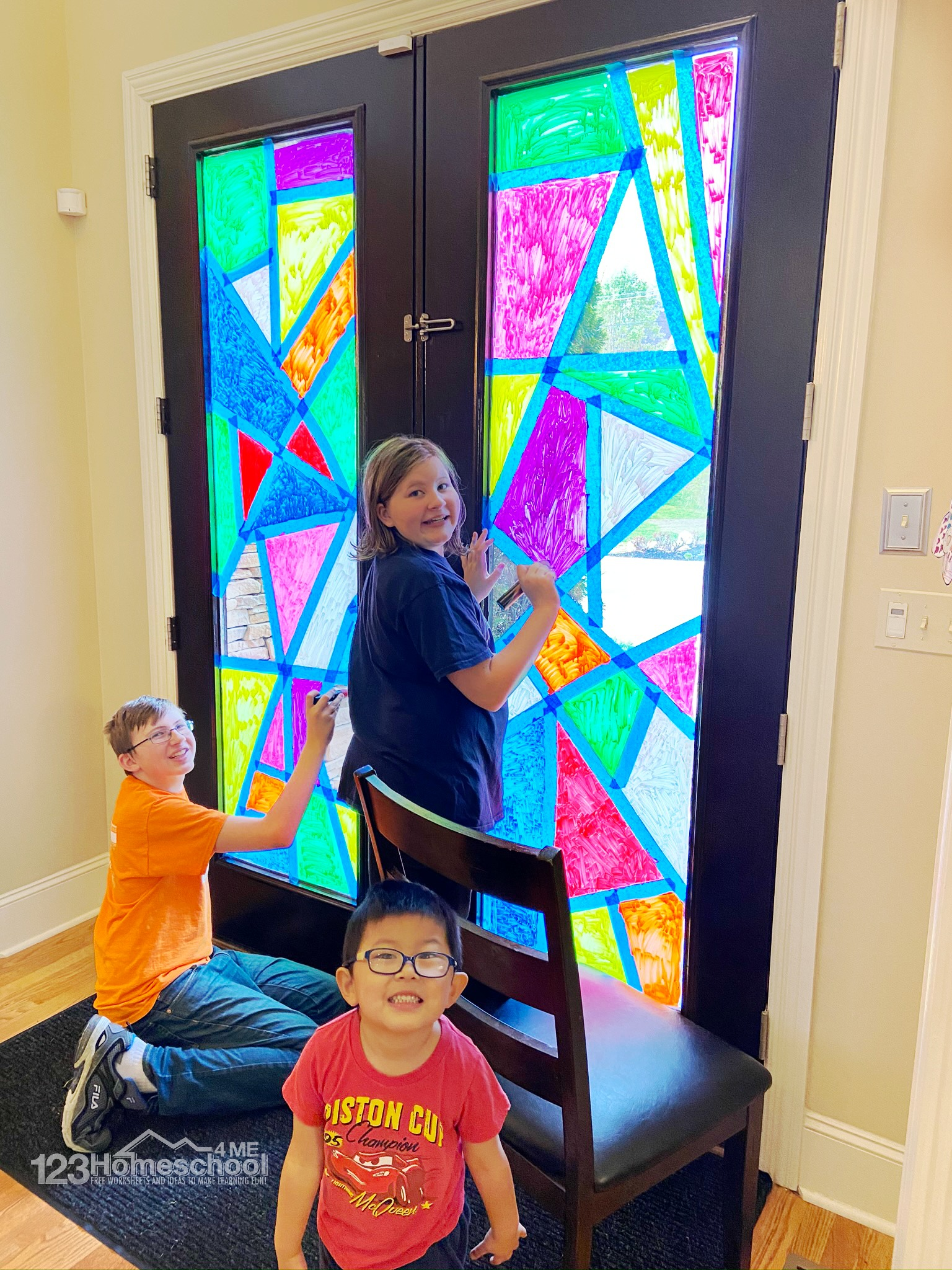 easy to make Stained Glass for Kids