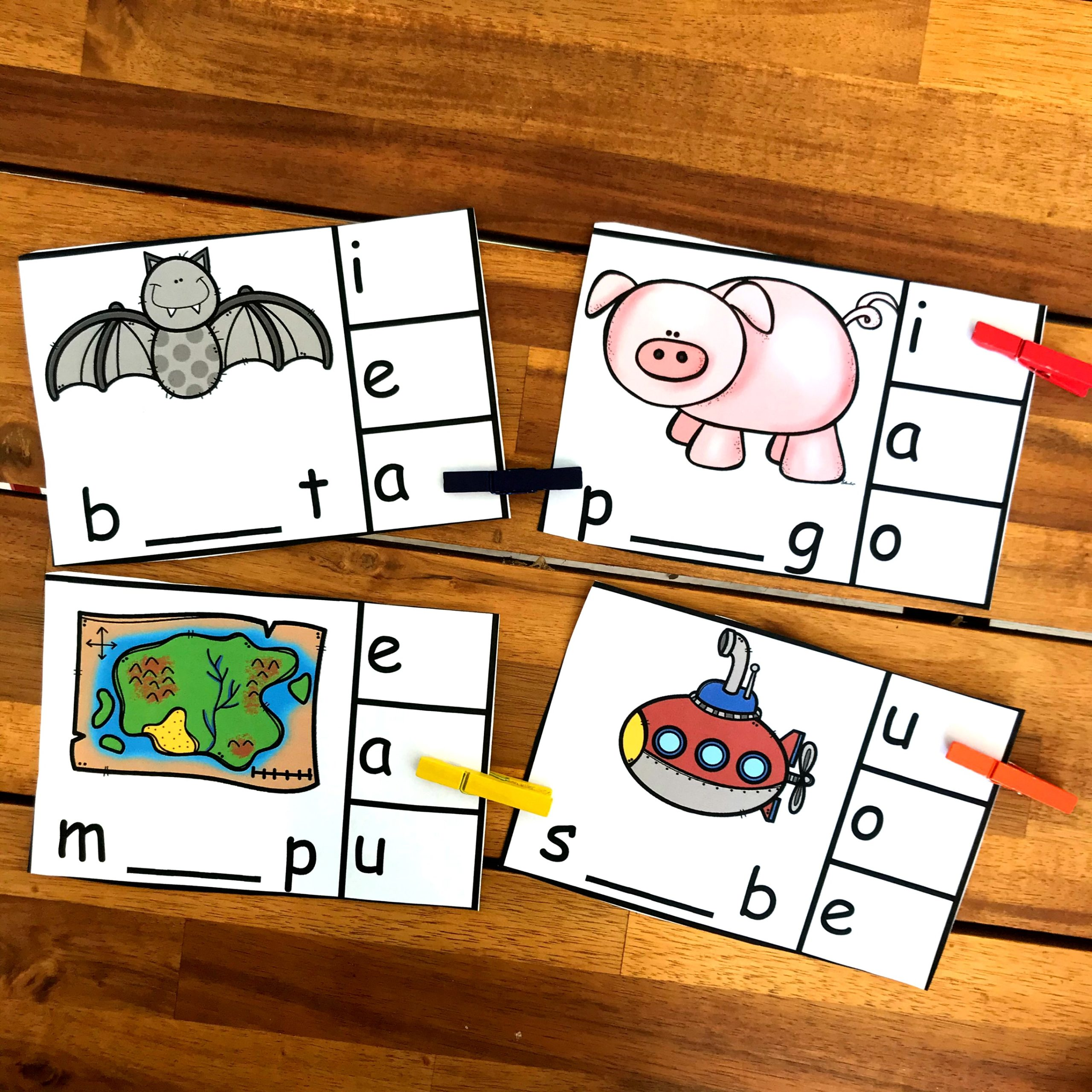 practice vowel sounds with this free printable activity