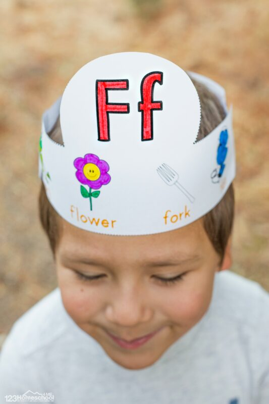 super cute alphabet crowns for kids to read, decorate, trace, and wear for a letter of the week theme.