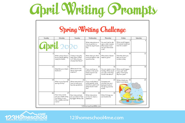 april writing ideas for elementary age kids