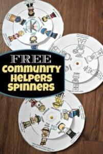 Community Helper Printable Wheel