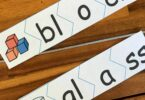 free printable Consonant Blends activity where kindergartners, first graders, and 2nd graders will put together puzzles with bl and gl blends
