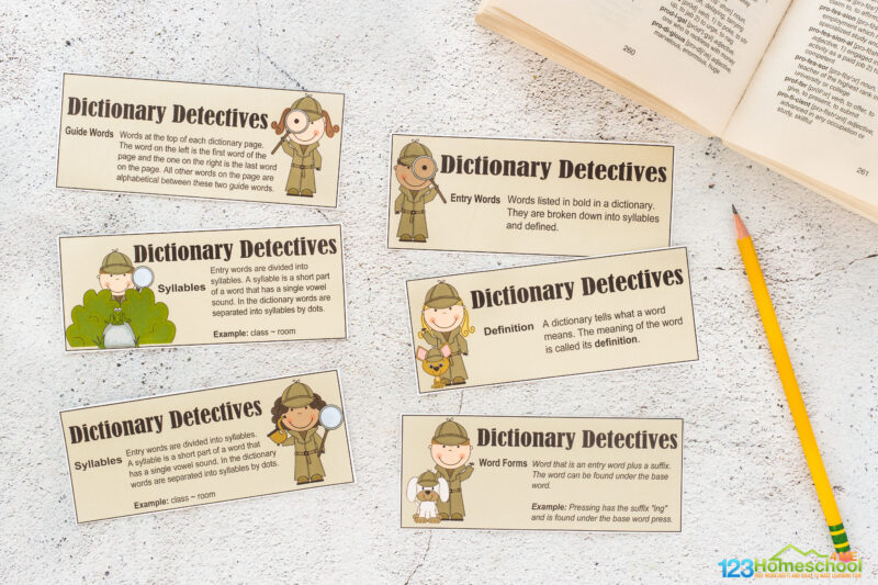 dictionary skills worksheet pdf