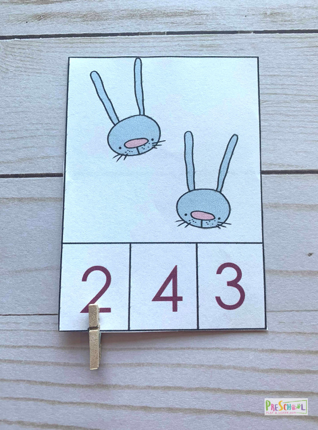 students will count hte number of bunnies, easter eggs, chicks while practicing counting to 10 with this easter math