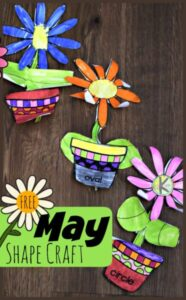 Flower Shape Math Craft